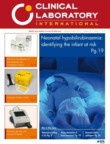 Neonatal hypobilirubinaemia: identifying the infant at risk Pg.19
