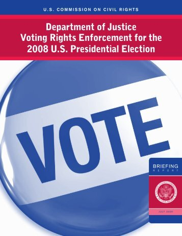 Voting Rights Enforcement for the 2008 U - U.S. Commission on ...