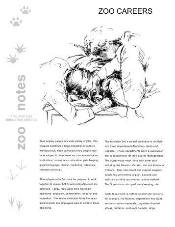 zoo notes - Zoos South Australia