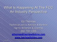 What is Happening at the FCC - Wiltshire & Grannis LLP