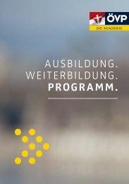 Ausbildung. Weiterbildung. programm. - ÖVP Wien