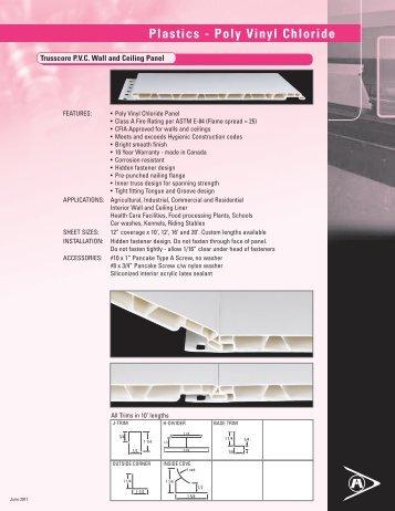PVC Liner Panels - Product Sheet - Agway Metals Inc