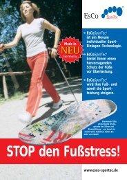 STOP den Fußstress! - bei EsCoSporTec