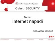 Internet napadi - Razvoj karijere