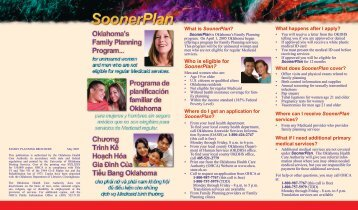 What is SoonerPlan? - The Oklahoma Health Care Authority