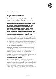 Design als Brücke zur Musik - Podium Festival