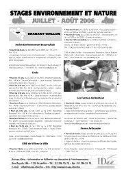 BRABANT-WALLON - Réseau IDée