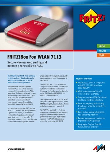 Data sheet FRITZ!Box 7113 [pdf]