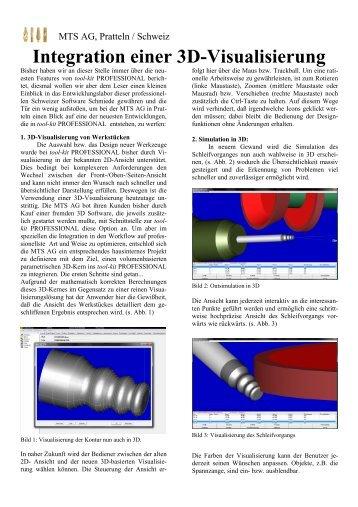 Integration einer 3D-Visualisierung - MTS AG