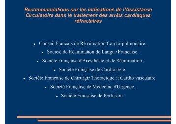 Recommandations sur les indications de l'Assistance ... - COLMU
