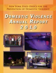 Domestic Violence Annual Report 2010 - Office for the Prevention of ...