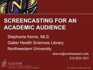 Screencasting - Galter Health Sciences Library - Northwestern ...