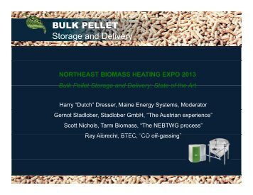 BULK PELLET Storage and Delivery - Northeast Biomass Heating ...