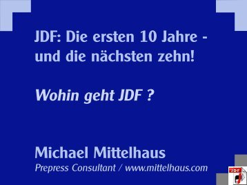 JDF Standard - Mittelhaus