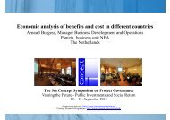 Economic analysis of benefits and cost in different ... - Concept - NTNU
