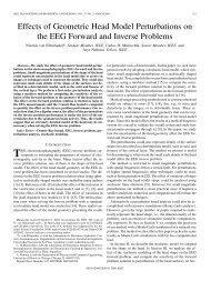 Effects of Geometric Head Model Perturbations on the ... - IEEE Xplore