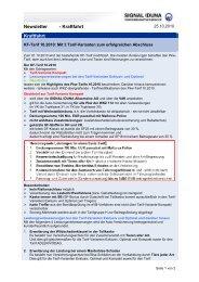 Newsletter - SIGNAL IDUNA Vertriebspartnerservice AG