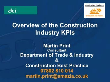 Overview of the Construction Industry KPIs - Achilles