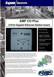 AMP CO Plus 3-Port Gigabit Ethernet Switch Insert