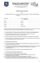 Praktikumsvertrag - BBS-Holzminden