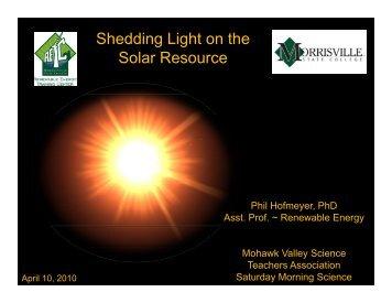 Shedding Light on the Solar Resource