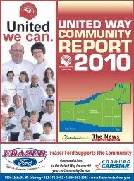 2010 Community Report - Northumberland United Way