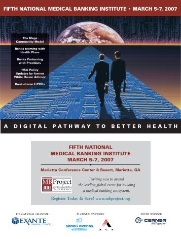 fifth national medical banking institute • march 5-7, 2007 a digital ...