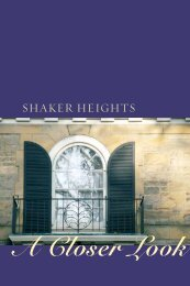 Download A Closer Look - City of Shaker Heights