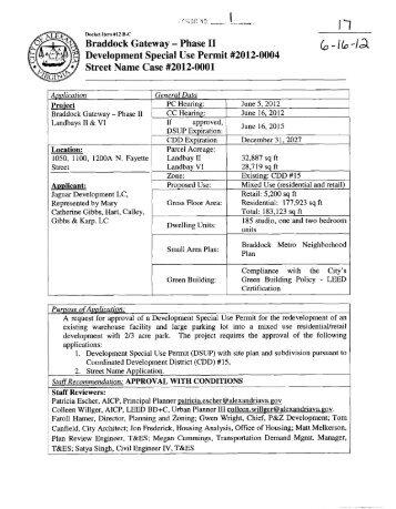 Development Special Use Permit #2012-0004