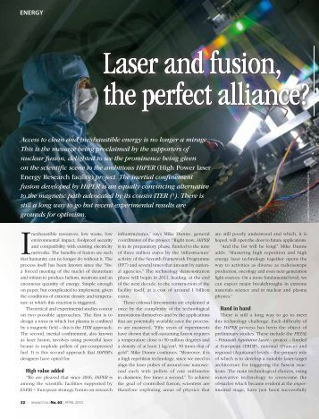Laser and fusion, the perfect alliance? - New Light Source Project