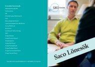 Informationsfolder om Saco Lönesök