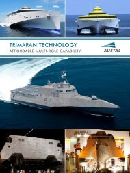 Jane's Trimaran Technology Capability Liftout - Austal Ships
