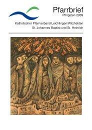 Pfarrbrief Pfingsten 2009 - kath. Pfarrgemeinde St. Johannes Baptist ...