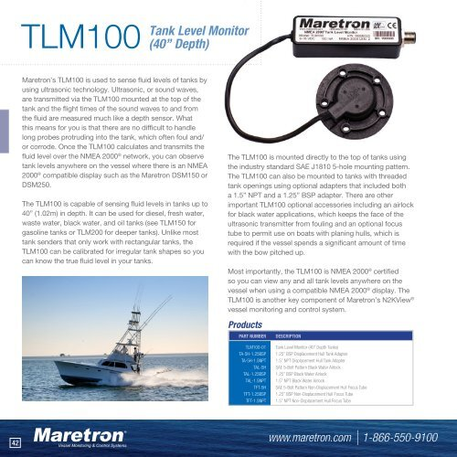 Maretron TLM150 Tank Level Monitor