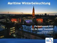 Maritime Winterbeleuchtung - Kiel-Marketing