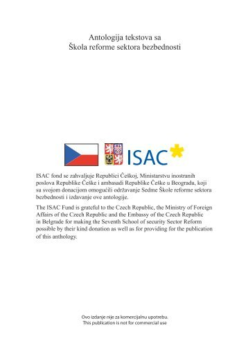 the process of security sector reform - ISAC Fund