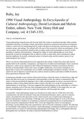 Ruby-Visual Anthropology in Ency...
