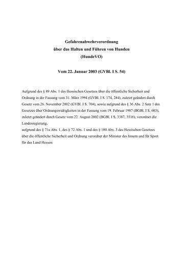 Gefahrenabwehrverordnung über das Halten und  ... - Grasellenbach