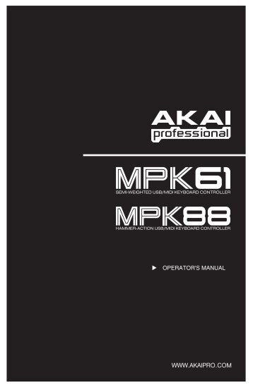 akai mpk61 manual - SampleKings