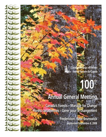 Annual report 2006-Cover - Canadian Institute of Forestry