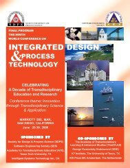 Integrated Design & Process Technology - Cell Biochemistry