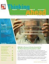 Vol. 13, No. 1, Spring 2013 - The Brain Aneurysm Foundation