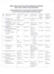DIRECTORATE OF VOCATIONAL HIGHER SECONDARY ... - VHSE