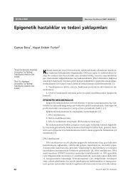 epigenetik hastalıklar ve tedavi yaklaşımları - Hacettepe Üniversitesi ...
