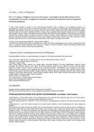 I mostra d'arte contemporanea Città di Pitigliano - ARCADIA et in ...