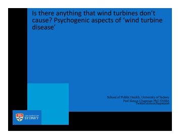 Is there anything that wind turbines don't cause? - Tobacco Control ...