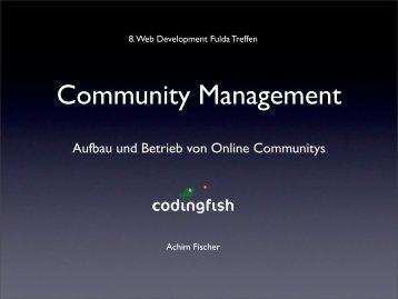 Community Management - webdevFulda
