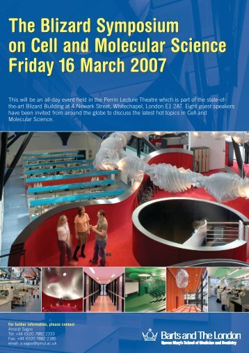 Friday 16 March 2007 - Blizard Institute - Queen Mary University of ...