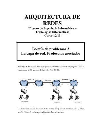TEMA 3. La capa de red. Protocolos asociados. - Departamento de ...