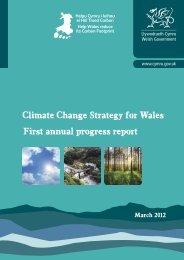Climate Change Strategy for Wales First annual ... - Cynnal Cymru